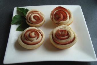 Preparar rosas de jamón