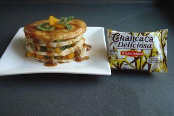 Pancakes con salsa de chancaca