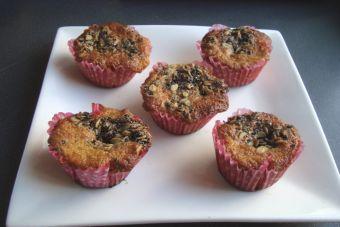 Muffins de zanahoria con topping de semillas