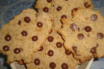Galletas de Avena, Cambur y Chocolate