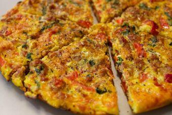 Receta vegana: tortilla de verduras con harina de garbanzos