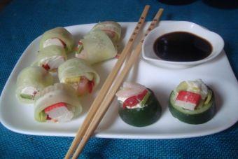 Picoteos: Sushi de pepino