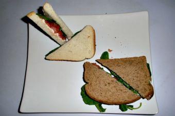 Sandwich de rúcula