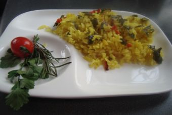 Arroz al curry Thai