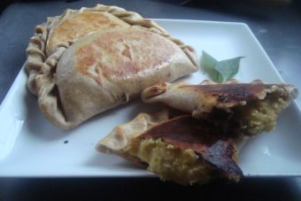 Empanada con relleno de pastelera