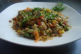 Cómo preparar un Guiso de lentejas y verduras