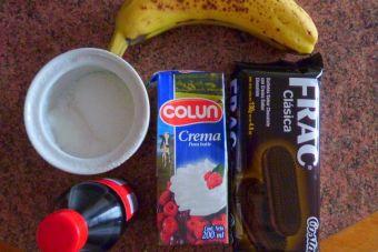 Cómo hacer un Postre de plátano a la crema con crispy de galletas