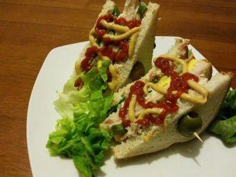 Cómo hacer un Club Sandwich de pollo