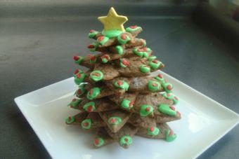 Prepara un Árbol de navidad con galletas