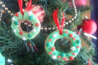 Cómo preparar una Corona de navidad de galletas