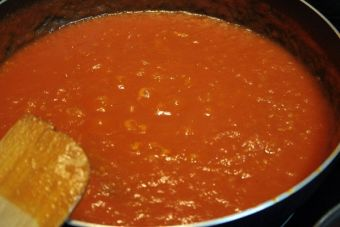 Salsa de tomates chinos