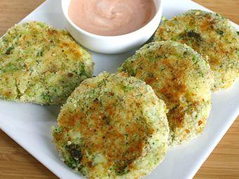 Hamburguesas vegetarianas de papa y brócoli