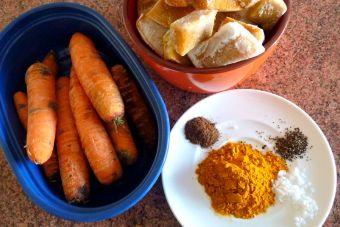 Prepara una Crema de zapallo, zanahoria y cúrcuma