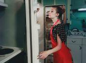 Cosas de loca: atacar el refrigerador en busca de ¡comida!