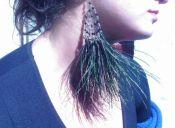 Tendencia: aros de plumas
