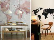 Tendencia decorativa: mapamundi
