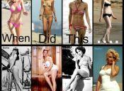 Chicas raquíticas vs. las sexys rellenitas del pasado