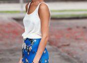 Tendencia: faldas + poleras básicas de algodón