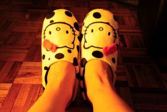 Pequeñas cosas divertidas: ir a la universidad con pantuflas