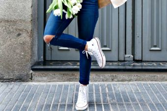 Tendencia: zapatillas blancas
