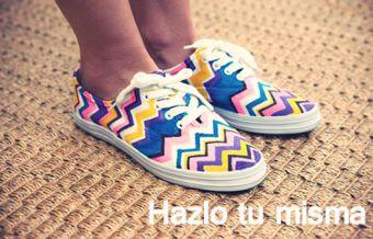 Hazlo tú Misma: Zapatillas étnicas