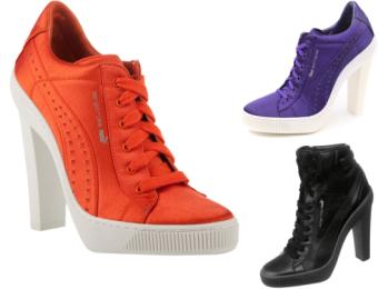 457e6a5c Zapatillas con taco de Adidas y Puma - Fucsia