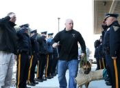 Perrito policía recibió conmovedor homenaje antes de ser sacrificado