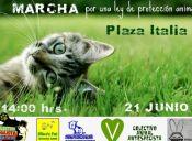 Este sábado 21 de junio ¡marcha por una Ley de Protección Animal!