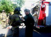 Bombero rescata a gatito de incendio en un acto de puro heroísmo