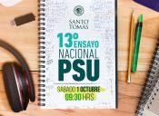 ¡Prepárate para la PSU con el 13° Ensayo Nacional PSU Santo Tomás!