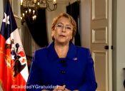 Presidenta Michelle Bachelet confirmó cambios en el acceso de la PSU