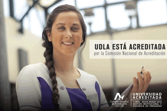 UDLA está acreditada por la Comisión Nacional de Acreditación