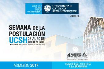 Semana de la Postulación UCSH Desde el 26 al 30 de Diciembre
