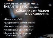 Día Nacional de la Astronomía en Centro de Creaciones Infante 1415