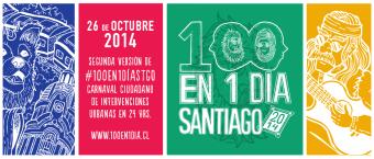 Recorriendo Santiago de Chile con #100en1día