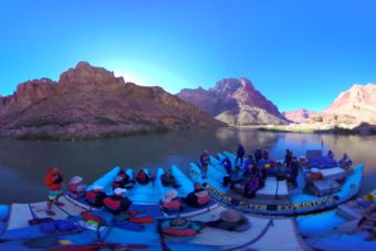 Primer video de bajada en rafting del Colorado en 360°