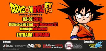 Dragon Ball Expo en Biblioteca de Santiago