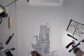 Reconstruyendo Nueva York en tinta