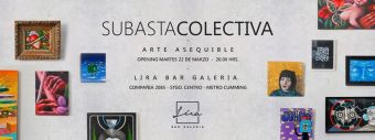 Subasta colectiva de arte en Lira Galería Bar