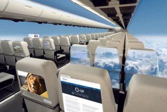 En 10 años más podríamos tener aviones sin ventanas