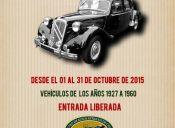 Exposición de autos antiguos en Museo Histórico y Miltar