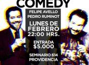 Felipe Avello y Pedro Ruminot en Comedy Restobar