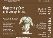 Concierto Navidad Orquesta y Coro Universidad de Santiago