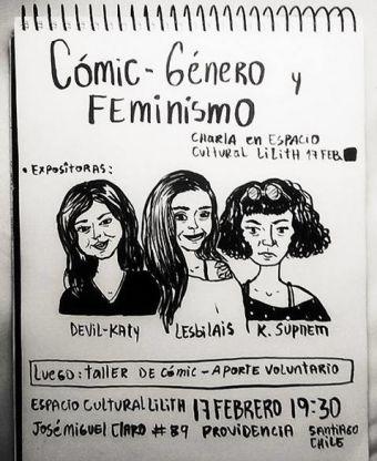 Charla sobre Cómic, Género y Feminismo en Espacio Lilith