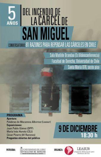 5 a os del incendio de la c rcel de san miguel 81 razones for Viveros en nunoa