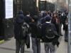 Estudiantes del Instituto Nacional llevaron a cabo una marcha en rechazo al ránking de notas