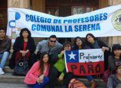 Profesores de La Serena mantienen paro indefinido al no llegar a acuerdo por descuentos