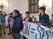 Secundarios protestaron contra iniciativa que defiende la selección en los emblemáticos