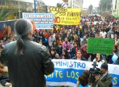 Apoderados marcharon este sábado en contra de la Reforma Educacional