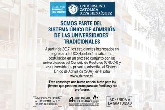 UCSH ingresará al Sistema Único de Admisión